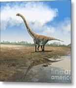 Omeisaurus Tianfuensis, An Euhelopus Metal Print by Roman Garcia Mora