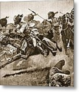 On The Expedition To Pao-ting-fu A Metal Print by Stanley L. Wood