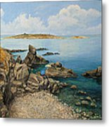 On The Rocks In The Old Part Of Sozopol Metal Print