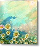 One Pink Daisy Metal Print