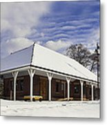 Orchard Park Depot Metal Print by Peter Chilelli