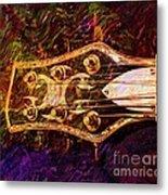 Out Of Tune Digital Guitar Art By Steven Langston Metal Print