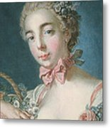 Head Of Flora Metal Print by Francois Boucher