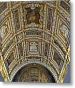 Painted Ceiling Of Staircase In Doges Palace Metal Print by Sami Sarkis