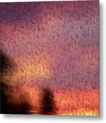 Painted Evening Metal Print by Kevin Bone