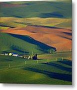 Palouse - Washington - Farms - 1 Metal Print by Nikolyn McDonald
