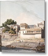 Part Of The City Of Patna, On The River Metal Print
