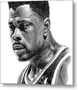 Patrick Ewing Metal Print by Harry West