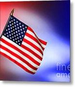 Patriotic American Flag Metal Print
