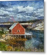Peggy's Cove Metal Print by Cindy Rubin