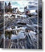 Pemaquid Lighthouse Metal Print by Victoria  Dauphinee