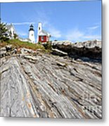 Pemaquid Point Lighthouse In Maine Metal Print