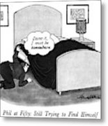 Phil At Fifty: Still Trying To Find Himself Metal Print by J.B. Handelsman