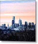 Philadelphia From Belmont Plateau Metal Print by Bill Cannon