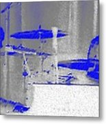 Piano Player In Pastel Blue Metal Print