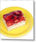 Piece Of Strawberry Cake Metal Print