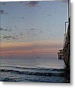 Pier Panorama At Sunrise  Metal Print by Michael Thomas