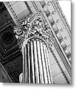 Pillar Of Finance  Metal Print by Cathie Tyler
