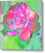 Pink Abstract Metal Print by Cathie Tyler