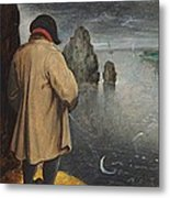 Pissing At The Moon  Metal Print by Pieter the Younger Brueghel