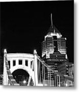 Pittsburgh Bridge Metal Print by Josh Ebel
