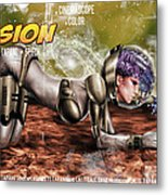 Planetary Invasion Metal Print by Pete Tapang