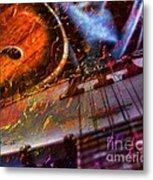 Play It Again Sam Digital Guitar And Banjo Art By Steven Langston Metal Print