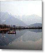 Pleasant View Of Dal Lake- Kashmir- India- Viator's Agonism Metal Print by Vijinder Singh