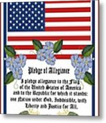 Pledge Of Allegiance Metal Print