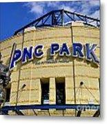Pnc Park Baseball Stadium Pittsburgh Pennsylvania Metal Print by Amy Cicconi
