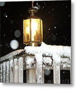 Porch Lamp Metal Print by Nelson Watkins