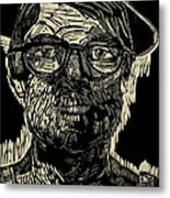 Portrait Of The Artist In A Fedora Final Stage Metal Print