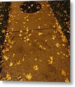 Poured Gold Metal Print