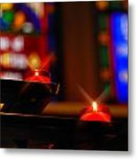 Prayer Candles Trinity Cathedral Pittsburgh Metal Print