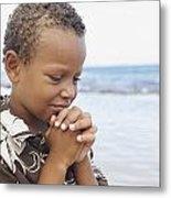 Praying Boy Metal Print