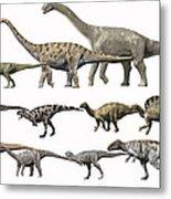 Prehistoric Era Dinosaurs Of Niger Metal Print by Nobumichi Tamura