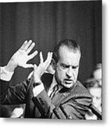 President Richard Nixon Gesturing Metal Print