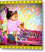 Princess Bella In The Original Magical Rocking Chair Metal Print by Maryann  DAmico