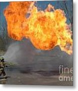 Propane Burn Metal Print by Steven Townsend