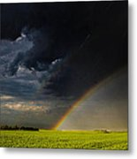 Protected By The Rainbow Metal Print by Christy Patino