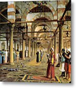 Public Prayer In The Mosque  Metal Print