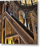 Pulpit In The Aya Sofia Museum In Istanbul  Metal Print by David Smith