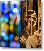 Pulpit Trinity Cathedral Pittsburgh Metal Print by Amy Cicconi