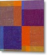 Purple And Orange Get Married Metal Print by Michelle Calkins
