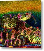 Rattlesnake 20130204p0 Metal Print by Wingsdomain Art and Photography