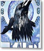 Raven Illustration Metal Print by Sassan Filsoof