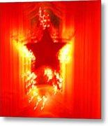 Red Christmas Star Metal Print