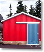 Red Fishing Shack Pei Metal Print by Edward Fielding
