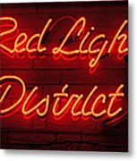 Red Light District Metal Print by Kiril Stanchev