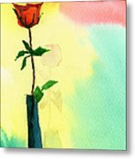 Red Rose 1 Metal Print